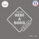Sticker Pas de bébé à bord Durex Sticks-em.fr Couleurs au choix