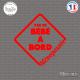 Sticker Pas de bébé à bord Ménopausée Sticks-em.fr Couleurs au choix