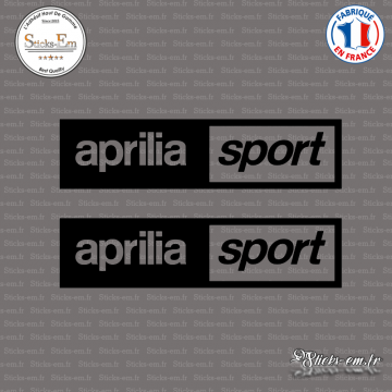 2 Stickers Aprilia Sport