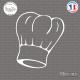 Sticker Toque Chef Cuisine Sticks-em.fr Couleurs au choix