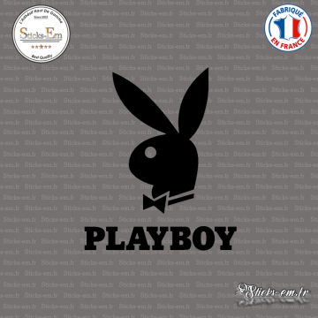 Sticker Lapin Playboy