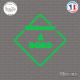Sticker Chômeur à bord Sticks-em.fr Couleurs au choix