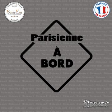 Sticker Parisienne à bord