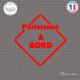 Sticker Parisienne à bord Sticks-em.fr Couleurs au choix