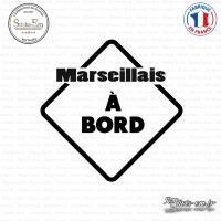 Sticker Marseillais à bord