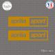 2 Stickers Aprilia Sport Sticks-em.fr Couleurs au choix