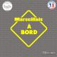 Sticker Marseillais à bord Sticks-em.fr Couleurs au choix