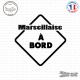 Sticker Marseillaise à bord sticks-em.fr