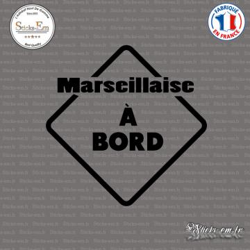 Sticker Marseillaise à bord