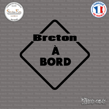 Sticker Breton à bord