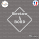 Sticker Breton à bord Sticks-em.fr Couleurs au choix
