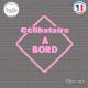 Sticker Célibataire à bord Sticks-em.fr Couleurs au choix
