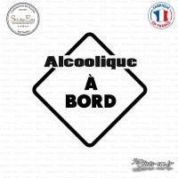 Sticker Alcoolique à bord