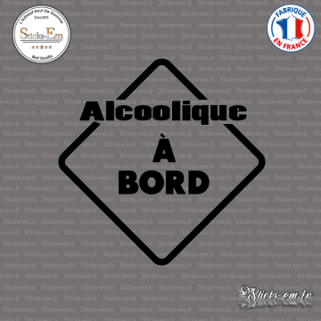 Sticker Alcoolique à bord