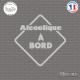 Sticker Alcoolique à bord Sticks-em.fr Couleurs au choix