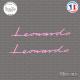 2 Stickers Aprilia Leonardo Sticks-em.fr Couleurs au choix