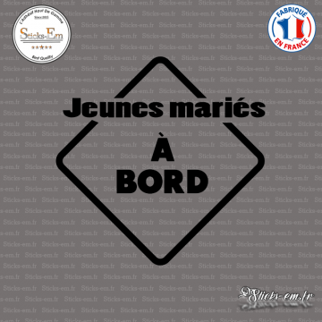 Sticker Jeunes Mariés à bord