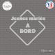 Sticker Jeunes Mariés à bord Sticks-em.fr Couleurs au choix