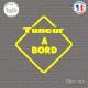 Sticker Tuneur à bord Sticks-em.fr Couleurs au choix