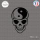 Sticker Tete de mort yin yang Sticks-em.fr Couleurs au choix