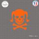 Sticker Tete de mort femme Girl Skull Sticks-em.fr Couleurs au choix
