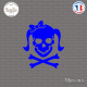 Sticker Tete de mort femme Girl Skull Noeud sticks-em.fr