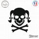 Sticker Tete de mort femme Girl Skull Couettes sticks-em.fr