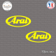 2 Stickers Arai Sticks-em.fr Couleurs au choix