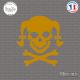 Sticker Tete de mort femme Girl Skull Couettes Sticks-em.fr Couleurs au choix