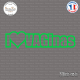 Sticker JDM I love VAGinas Sticks-em.fr Couleurs au choix