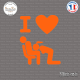 Sticker JDM i love blowjob Sticks-em.fr Couleurs au choix