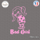 Sticker JDM Bad Girl Sticks-em.fr Couleurs au choix