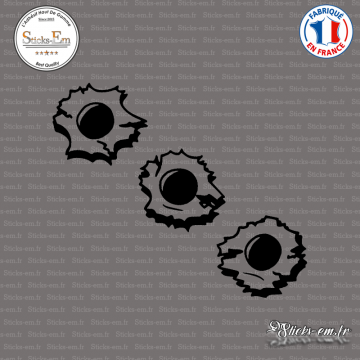 Sticker Bulletholes trous de balles