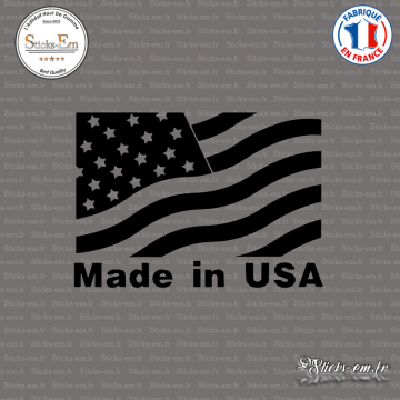 Sticker Drapeau Made in USA