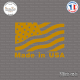 Sticker Drapeau Made in USA Sticks-em.fr Couleurs au choix