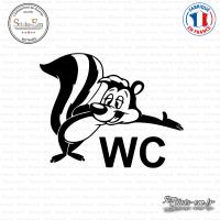 Sticker Bienvenue au WC sticks-em.fr