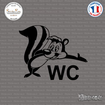 Sticker Bienvenue au WC