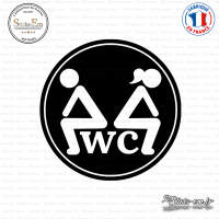 Sticker WC Toillette Sticks-em.fr Couleurs au choix