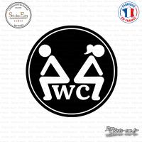 Sticker WC Toillette sticks-em.fr
