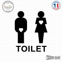 Sticker WC Toilet Mixte sticks-em.fr