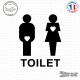 Sticker WC Toilet Mixte