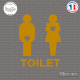 Sticker WC Toilet Mixte Sticks-em.fr Couleurs au choix