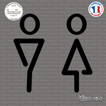 Sticker Flèches Toilettes Wc