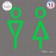 Sticker Flèches Toilettes Wc Sticks-em.fr Couleurs au choix