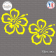 2 Stickers Hibiscus Flower Sticks-em.fr Couleurs au choix