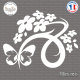 Sticker Floral Design with Butterfly Sticks-em.fr Couleurs au choix