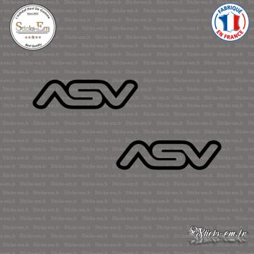 2 Stickers ASV Logo