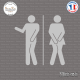 Sticker Toilette Mixte Fun sticks-em.fr