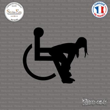 Sticker JDM Fuck Fauteuil Roulant