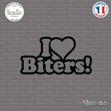 Sticker JDM I Love Biters!
